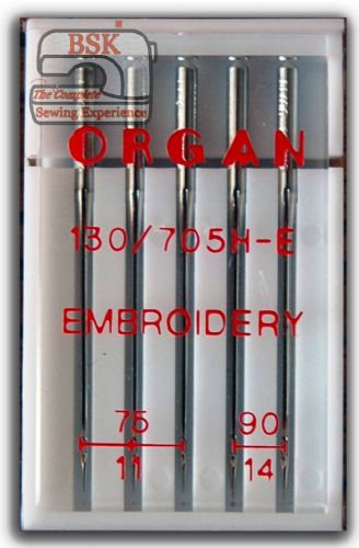 Organ Embroidery Machine Needles 130/705 Embroidery Size Mixed 75-90 BLB567
